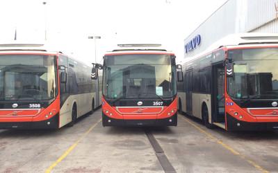 Domino SAS sur les autobus Volvo